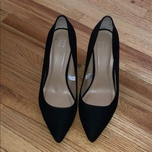 Black Suede Pointed Heels